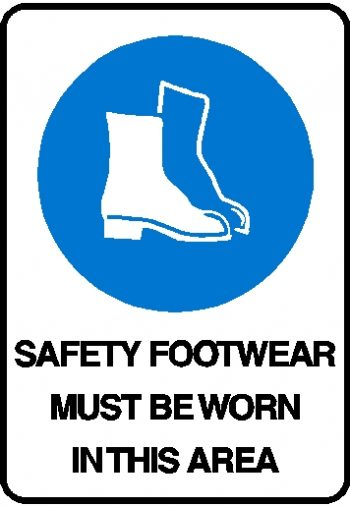 Mandatory Sign - Safety Footwear Must Be Worn In This Area