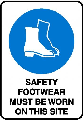 Mandatory Sign - Safety Footwear Must Be Worn On Site