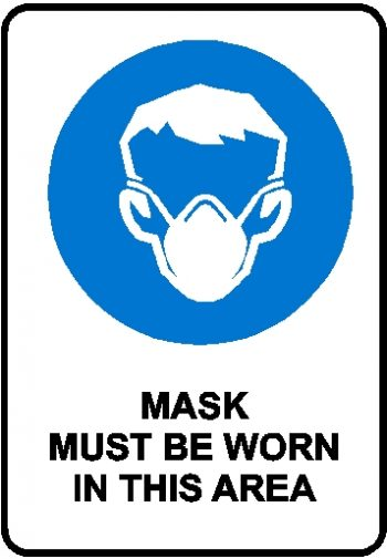 Mandatory Sign - Mask Must Be Worn In This Area