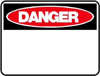 Danger Sign - Blank (No Text just Title)