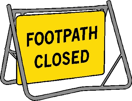 Swing Sign - Footpath Closed