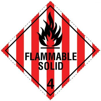 Dangerous Goods Signs - Flammable Solid 4